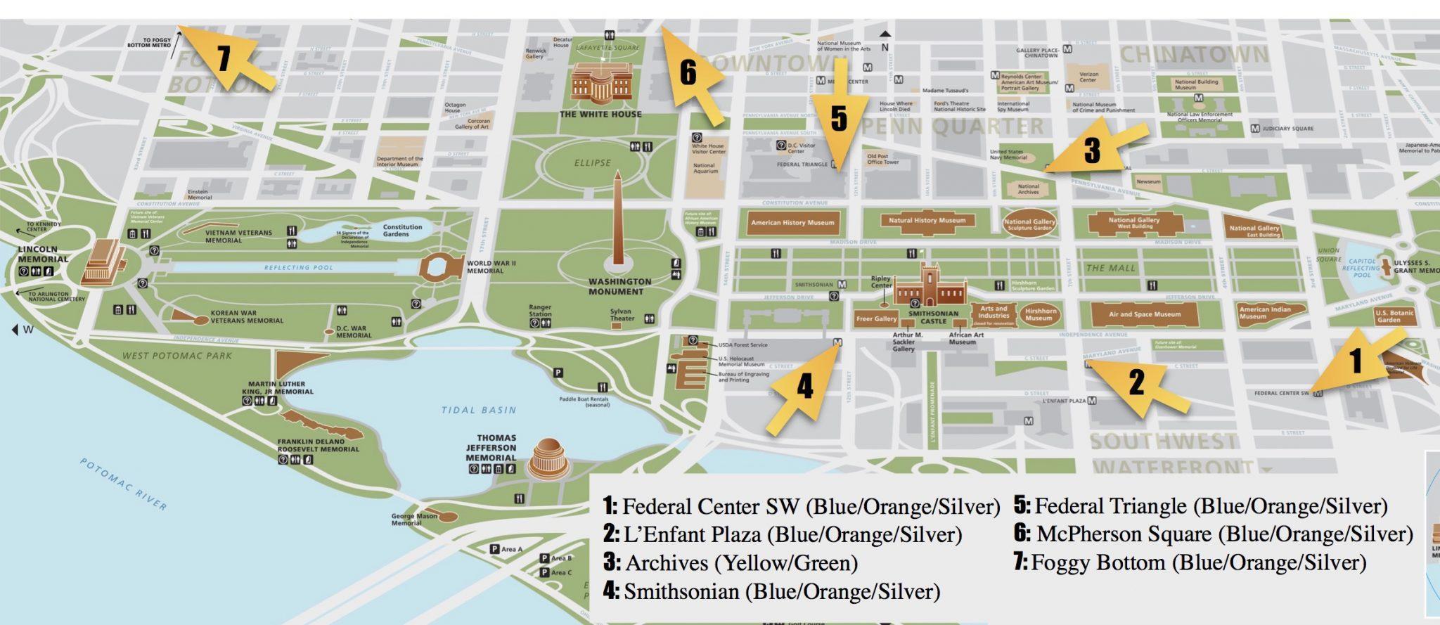 picture about Printable Map of Washington Dc identified as Washington dc shopping mall peta - Washington dc negara shopping mall peta